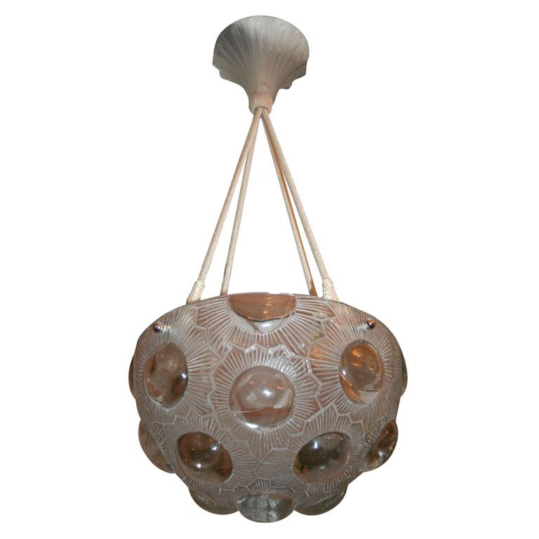 Lalique chandelier soleil