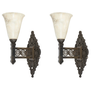 Pair of Edgar Brandt wall sconces