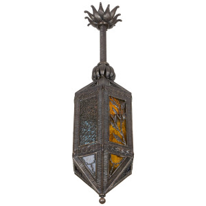 Kiss wrought iron lantern