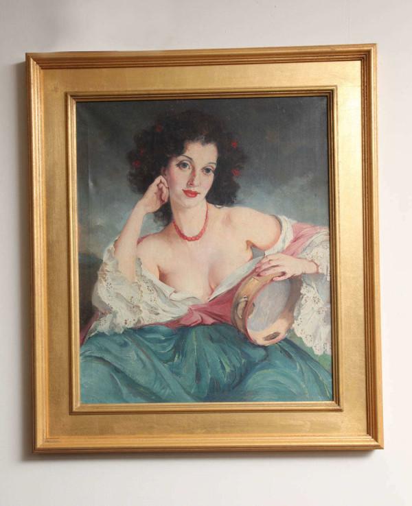 "Maria Szantho ""Woman with Tambourine"", 1930's"