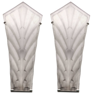 French Art Deco Wall Sconces by Sabino (2 pairs available)