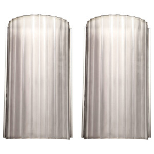 Marius Ernest Sabino Pair of Art Deco Wall Sconces (4 Pairs Available)