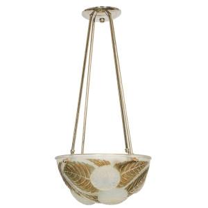 "Rene Lalique Chandelier ""Dahlias"""