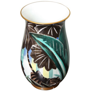 Art Deco Porcelain Vase by Robert Bonfils