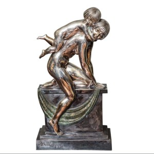 Silvered bronze sculpture by Paul Philippe