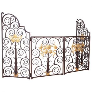 French 1940's Wrought Iron Screen / Gate