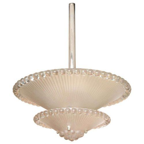 """Rene Lalique Chandelier """"Perles"""""""