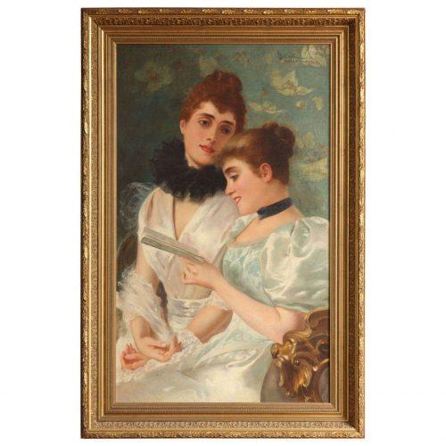 Oil on Canvas by Adolfo Belimbau (1845-1938)