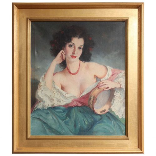 "Maria Szantho ""Woman with Tambourine"", 1930's"