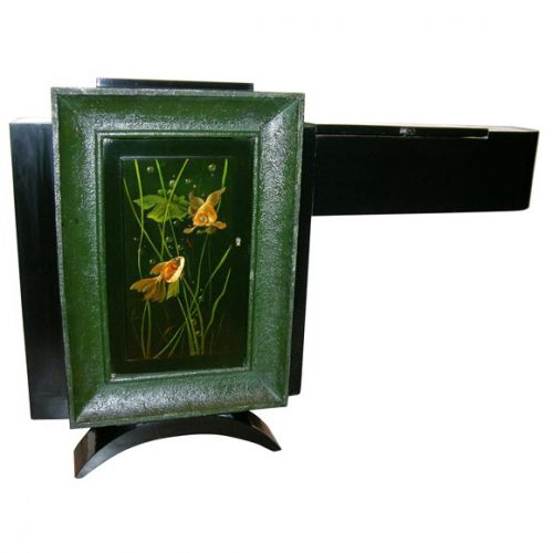 French Art Deco Low Cabinet by Rene Drouet & Gaston Suisse