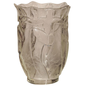 Art Deco Glass Vase by Verrerie Degue (David Gueron)