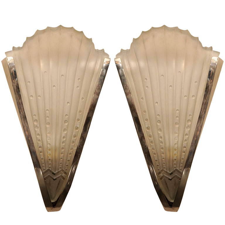 sc 1 st  Paul Stamati Gallery & Pair of Art Deco Wall Sconces - Paul Stamati Gallery