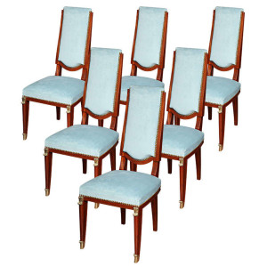 Set of Six French Art Deco Chairs