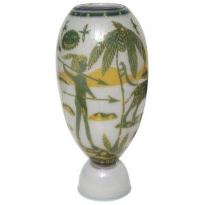 Swedish Studio Glass Vase by Wilke Adolfsson