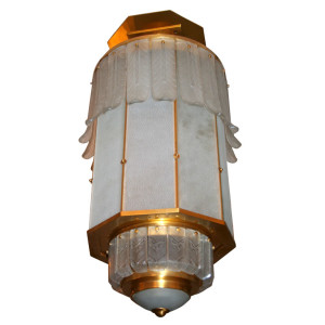 An Art Deco Monumental Lantern by SABINO