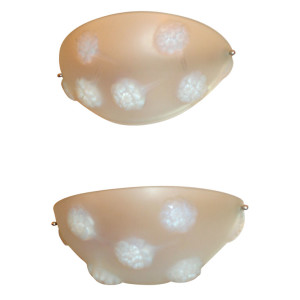 "Pair of ""Tournon"" Wall Sconces by Rene Lalique"