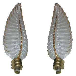 Pair of 1940's Wall Sconces by Ezan and Petitot