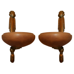 Pair of Wall Sconces by SUE et MARE