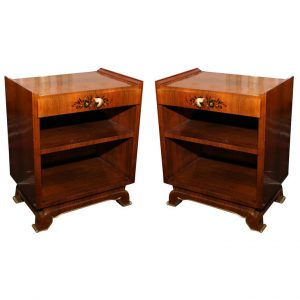 Jules Leleu Pair Of French Art Deco Side Tables