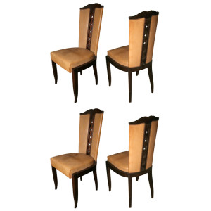 Set of 7 Art Deco Chairs by CHRISTIAN KRASS