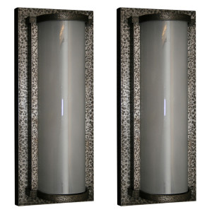 Pair of Large Wrought Iron Wall Sconces