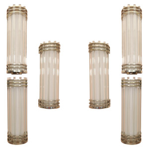 Pair of Modernist Wall Sconces by SABINO (2 pairs available)