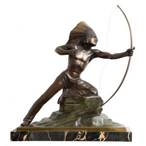 French Art Deco Bronze signed E. Guy