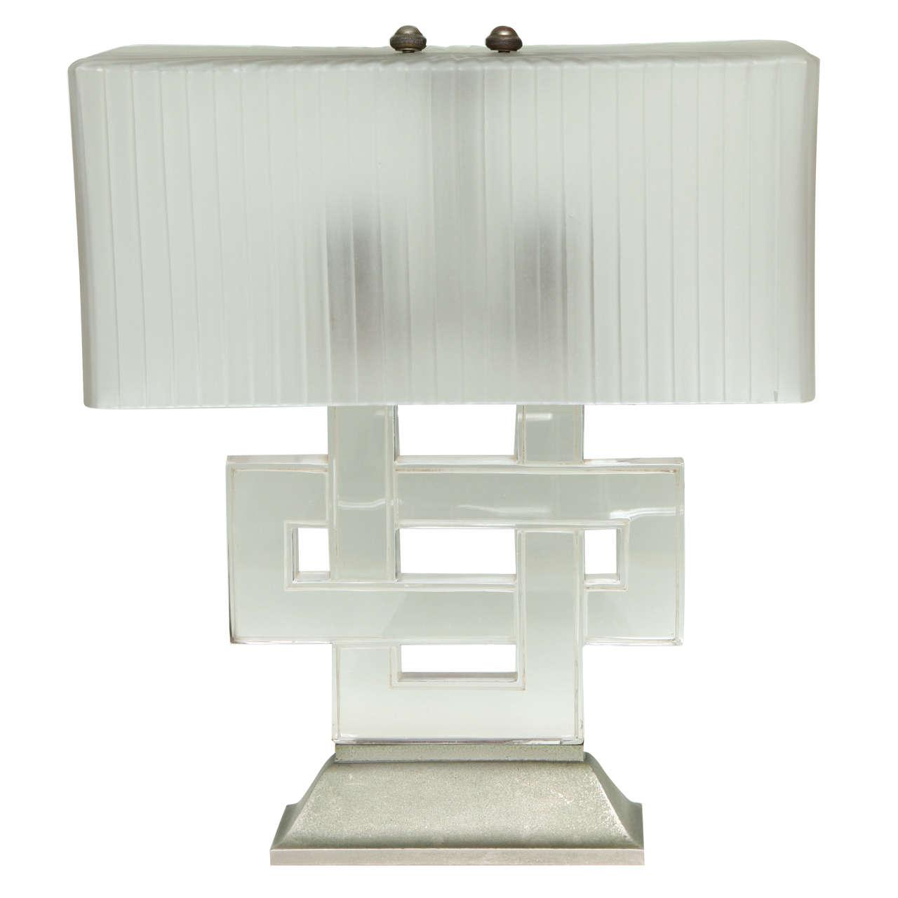 Art deco table lamp entrelacs by rene lalique paul stamati gallery aloadofball Images
