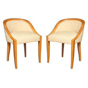 "Art Deco ""Gondole"" Chairs by DOMINIQUE"