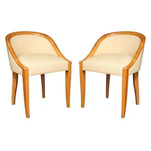 "Art Deco ""Gondole"" Chairs by DOMINIQUE"