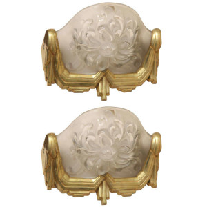 Pair of Art Deco Wall Sconces by Sabino