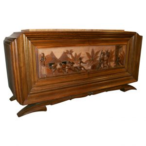 A Figural French Art Deco Buffet