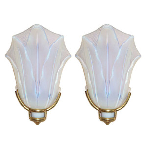 Pair of Art Deco Wall Sconces by Ezan