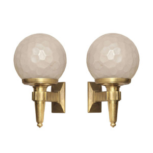 Genet et Michon Art Deco Wall Sconces