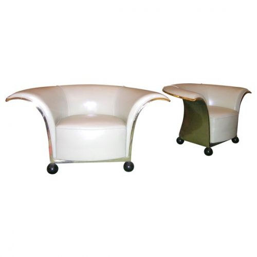 Pair of Spectacular French Art Deco Armchairs