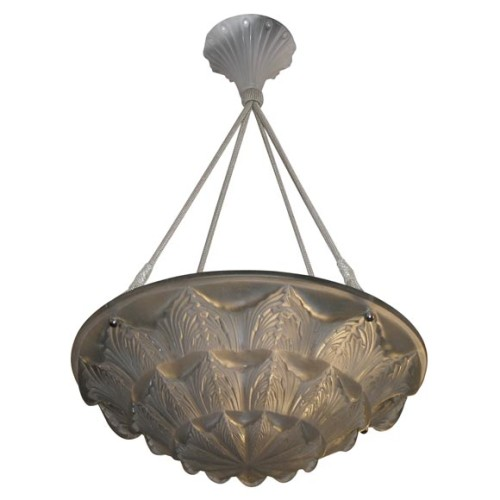 Rene Lalique chandelier Gaillon