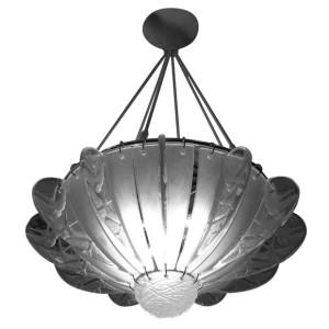 Rene Lalique chandelier Hirondelles