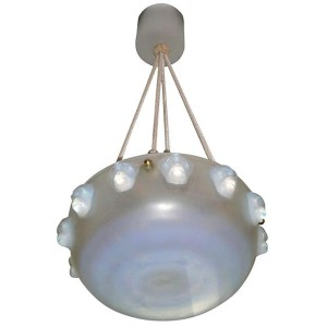"French Art Deco Chandelier by Rene Lalique ""Madagascar"""