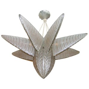 Rene Lalique chandelier Fougeres