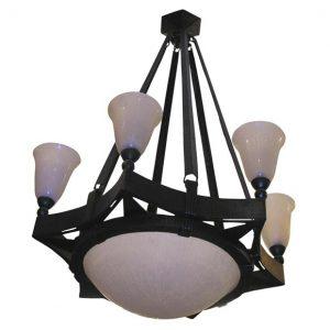 Edgar Brandt chandelier