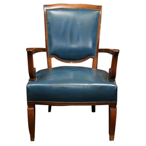 JULES LELEU Set of Four Art Deco Armchairs