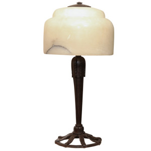 Art Deco Table Lamp by RAYMOND SUBES