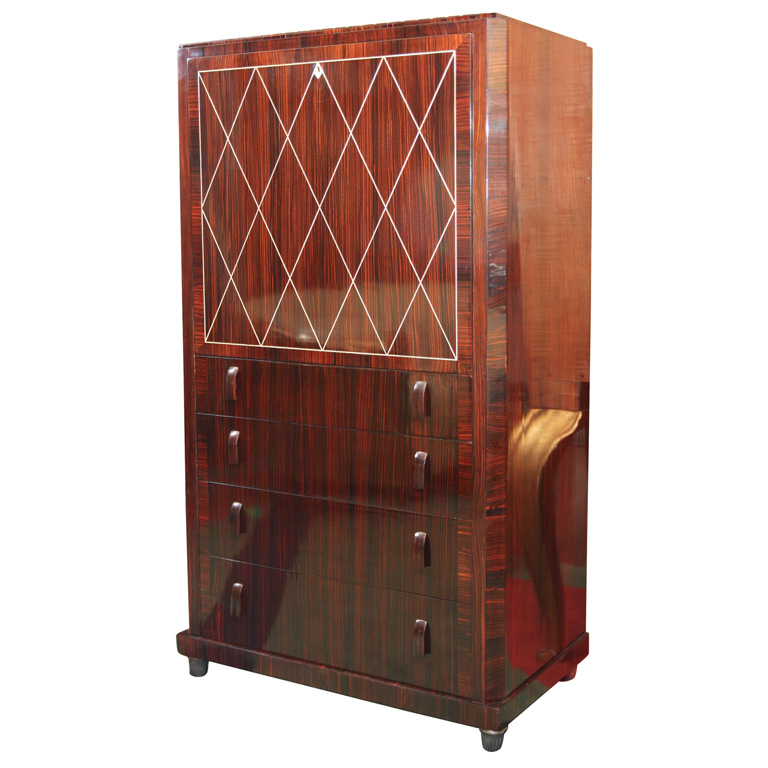 art deco secretaire in the manner of ruhlmann paul stamati gallery. Black Bedroom Furniture Sets. Home Design Ideas