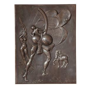 "DALI Silvered Bronze Panel ""Centaurus"""