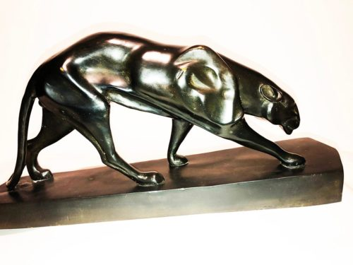 Art Deco Sculpture of a Panther