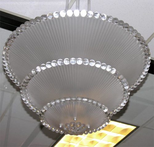 French Art Deco Chandelier by R. Lalique