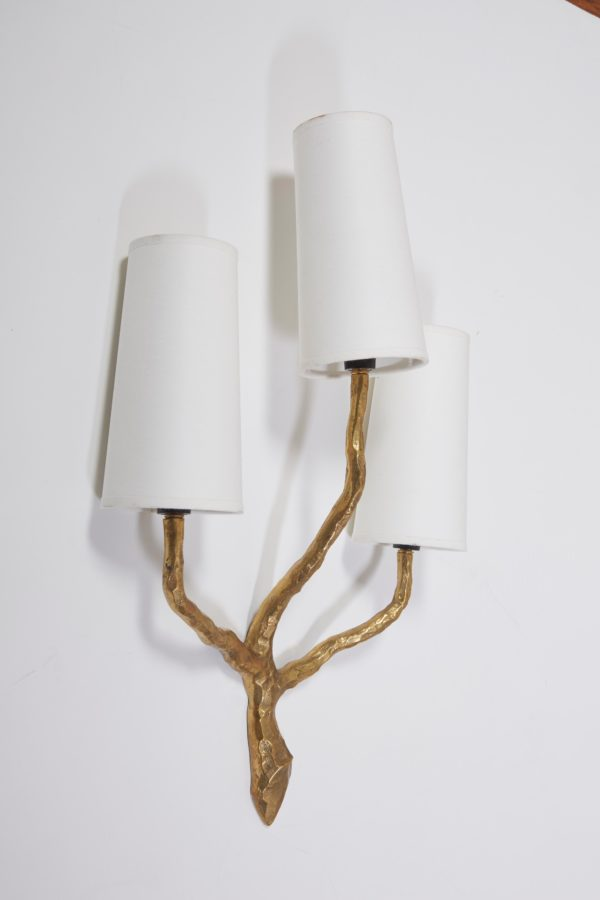 French Art Decorative wall sconces by Maison Arlus