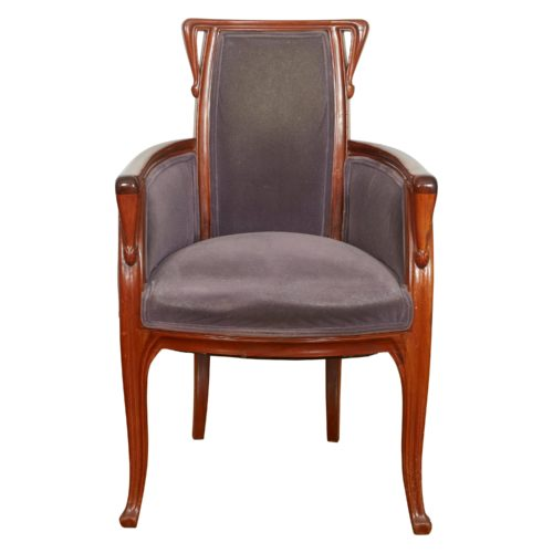 French Art Nouveau Armchair by Louis Majorelle