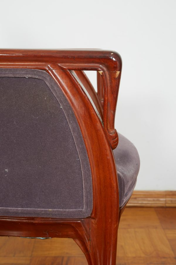 French Art Nouveau Armchair by Louis Majorelle