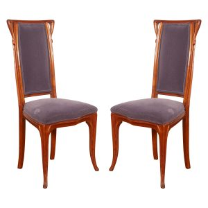 French Art Nouveau Chairs by Louis Majorelle